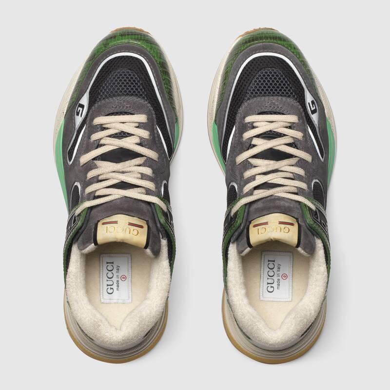 Nuove sneakers uomo Gucci modello Ultrapace verdi collezione inverno 2019 2020 - Nuove scarpe Gucci Uomo Inverno 2019 2020