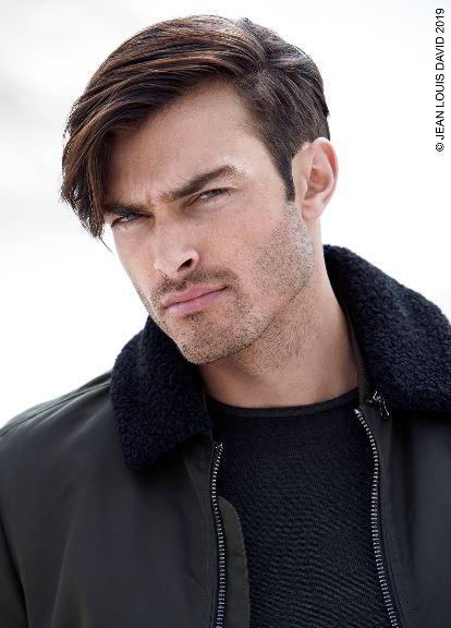 Taglio capelli uomo con ciuffo laterale Jean Louis David inverno 2019 2020 - Tagli Capelli Uomo Moda Inverno 2020