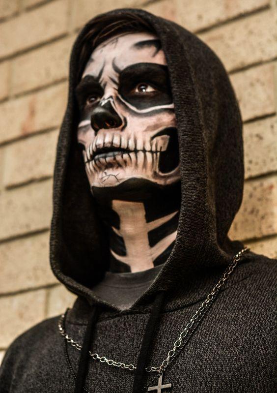 Trucco Halloween uomo da scheletro - Trucco Uomo Halloween: Foto Idee