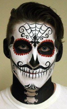 Trucco uomo Halloween da teschio messicano - Trucco Uomo Halloween: Foto Idee