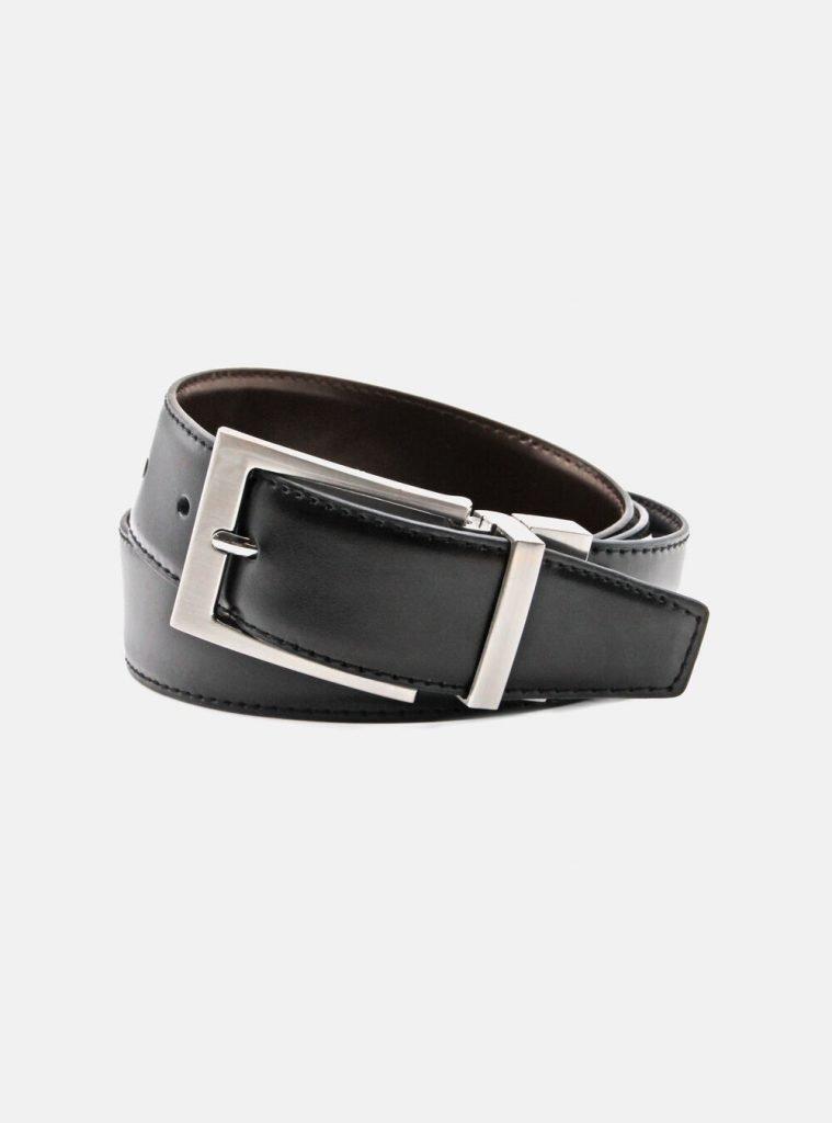 Cintura in pelle nera da uomo Gutteridge 759x1024 - Abito Smoking da Uomo per Capodanno 2020