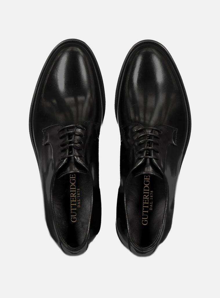 Scarpe eleganti stringate Oxford in pelle nera da uomo 759x1024 - Abito Smoking da Uomo per Capodanno 2020