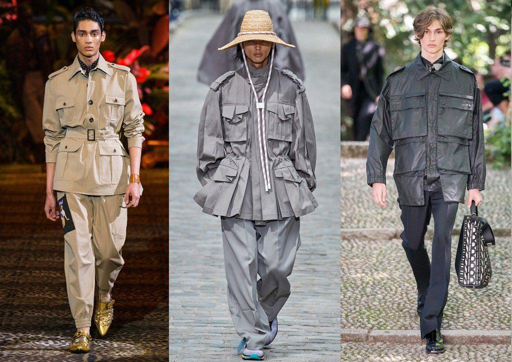 Abbigliamento vario con tasche e tasconi moda uomo 2020 1024x724 - Tendenze Moda Uomo Primavera Estate 2020