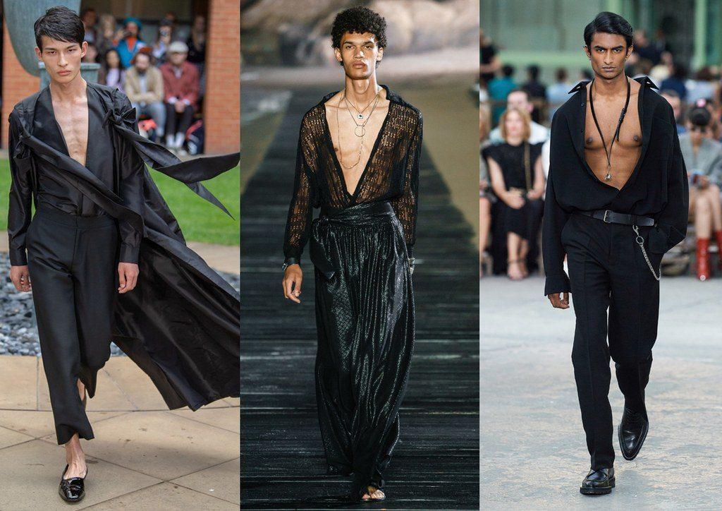Camicie indossate aperte moda uomo 2020 1024x724 - Tendenze Moda Uomo Primavera Estate 2020