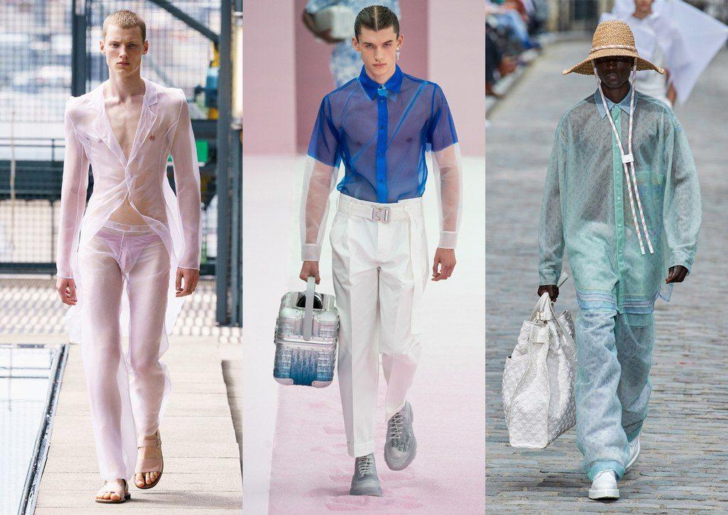 Capi maschili trasparenti in tulle organza e rete moda estate 2020 1024x724 - Tendenze Moda Uomo Primavera Estate 2020
