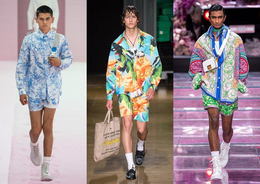 Completi uomo camicia e short dalle fantasie colorate moda primavera estate 2020 1024x724 - Tendenze Moda Uomo Primavera Estate 2020