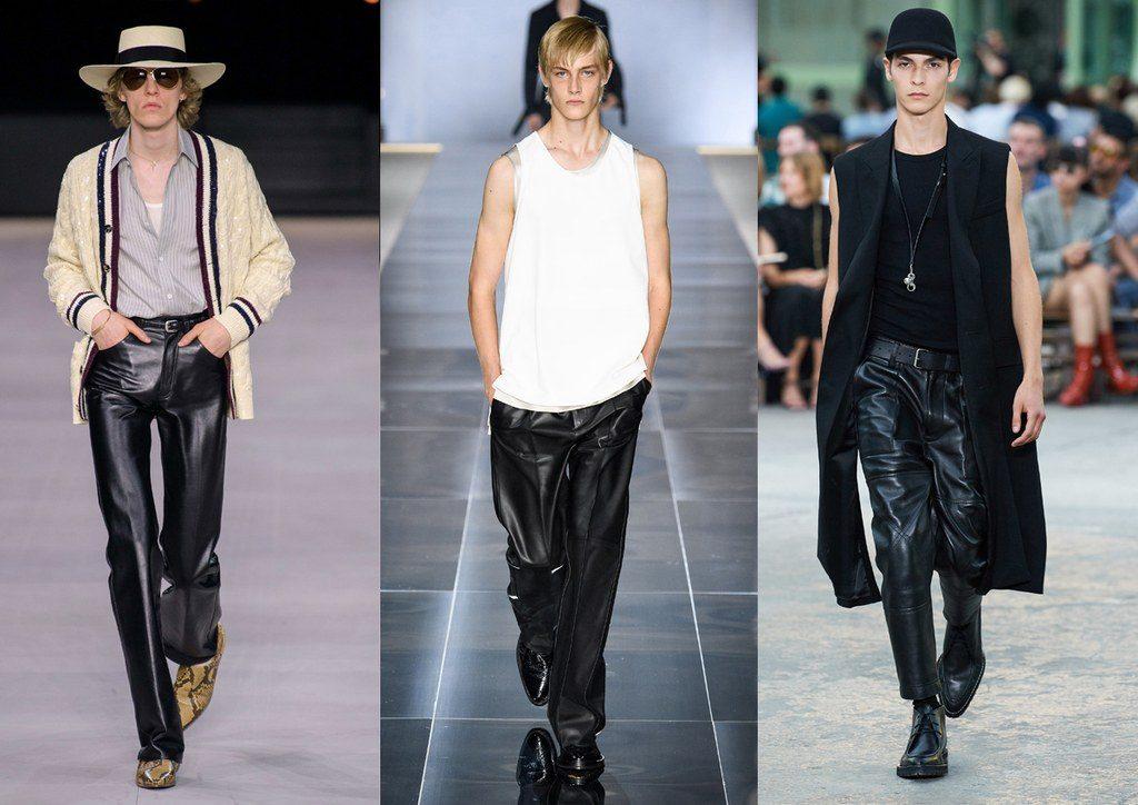 Moda Abbigliamento maschile primavera 2020 i pantaloni in pelle 1024x724 - Tendenze Moda Uomo Primavera Estate 2020