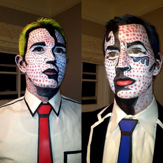 Trucco Uomo Carnevale moda Pop Art - Idee Trucco Carnevale da Uomo