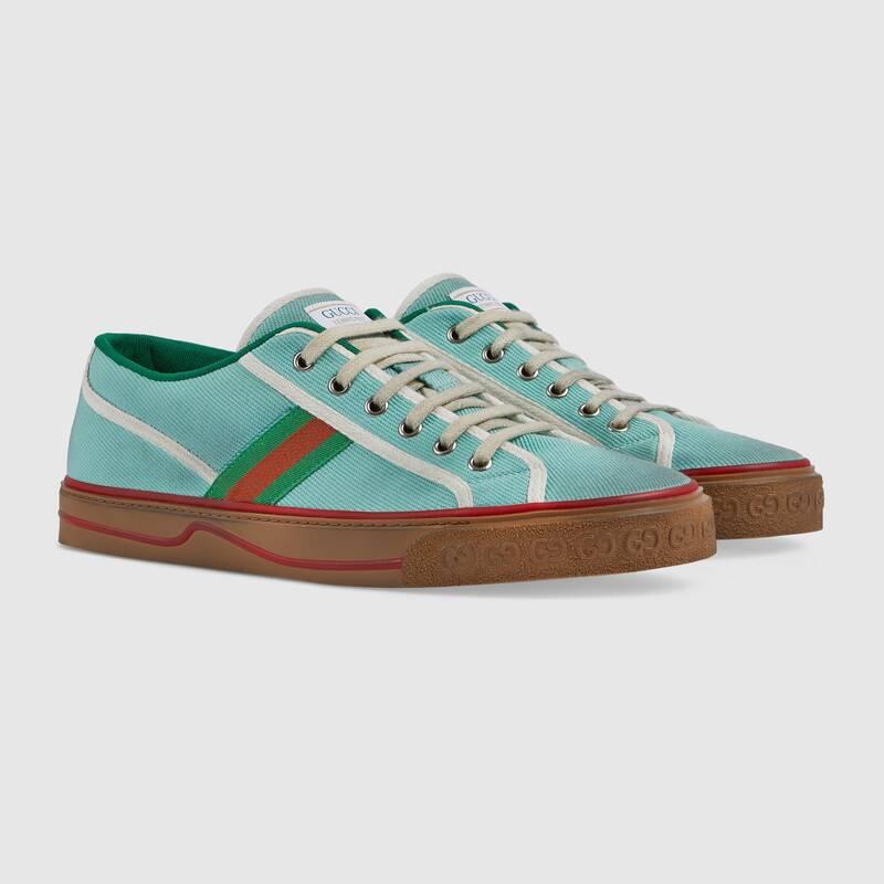 Nuove sneakers Gucci Tennis 1977 uomo colore azzurre - Sneakers Gucci Uomo primavera estate 2020