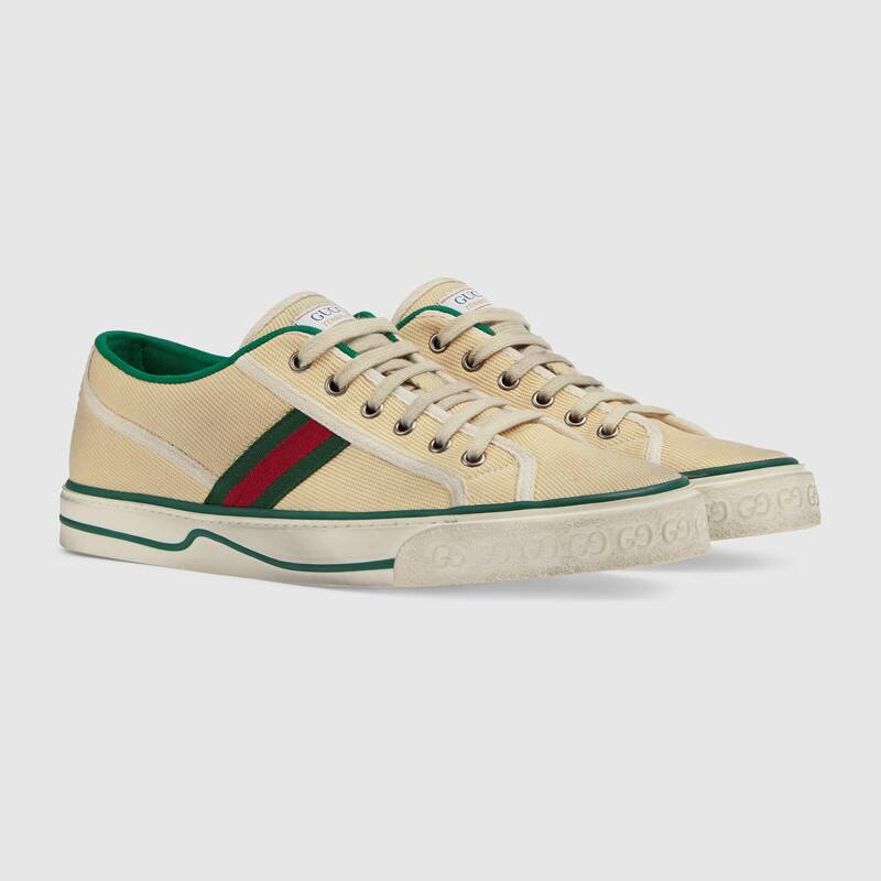 Nuove sneakers Gucci Tennis 1977 uomo colore burro - Sneakers Gucci Uomo primavera estate 2020