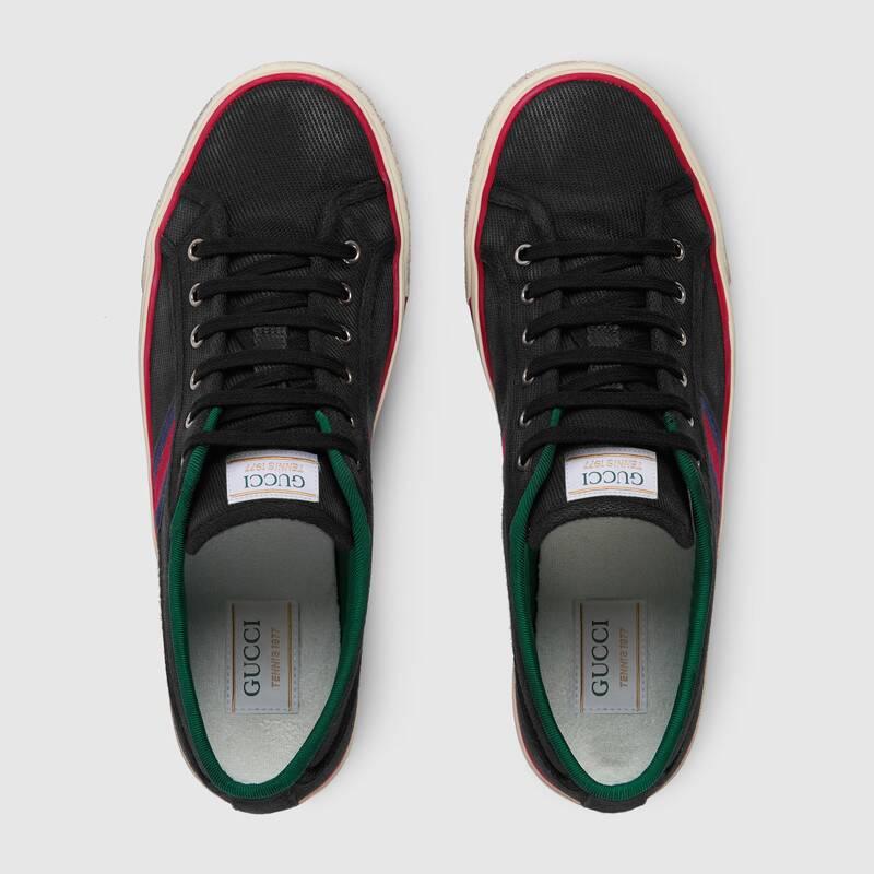 Nuove sneakers Gucci Tennis 1977 uomo nere collezione primavera estate 2020 - Sneakers Gucci Uomo primavera estate 2020