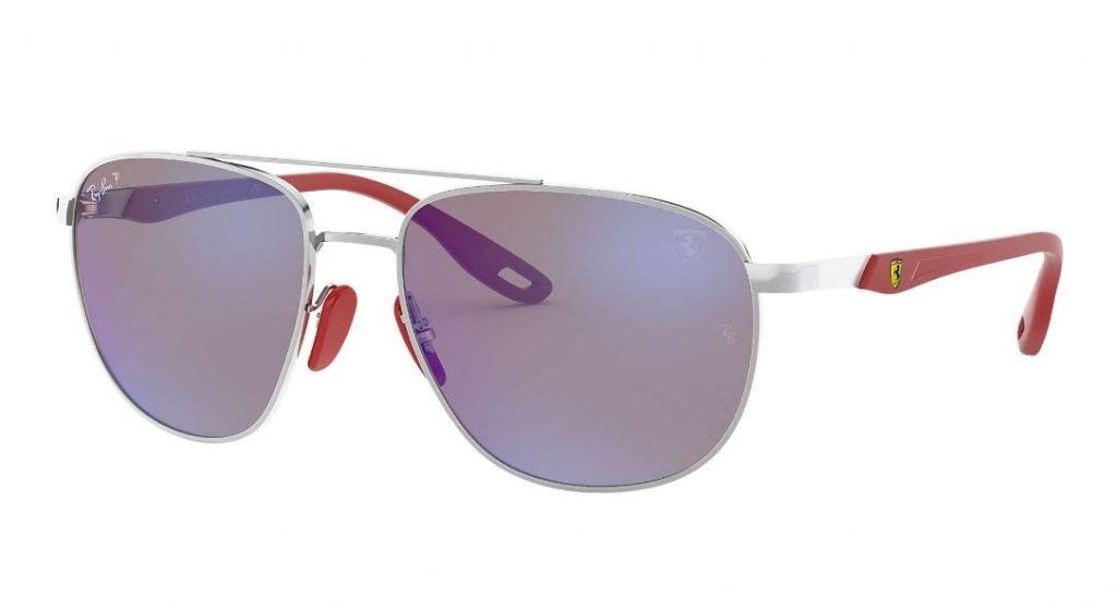 Nuovo modello occhiale da sole Ray ban uomo estate 2020 Scuderia Ferrari Collection colore argento 1024x559 - Occhiali da Sole Uomo Ray ban Estate 2020