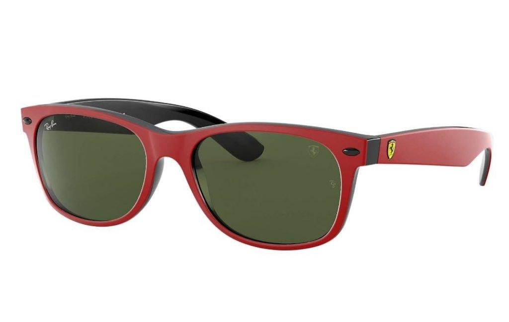 Ray ban New Wayfarer collezione Scuderia Ferrari uomo estate 2020 1024x649 - Occhiali da Sole Uomo Ray ban Estate 2020
