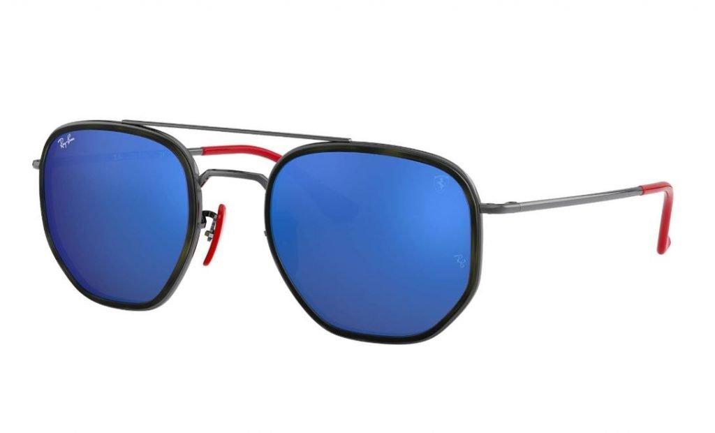 Ray ban occhiali da sole uomo Scuderia Ferrari mod RB3748M con lenti blu 1024x620 - Occhiali da Sole Uomo Ray ban Estate 2020
