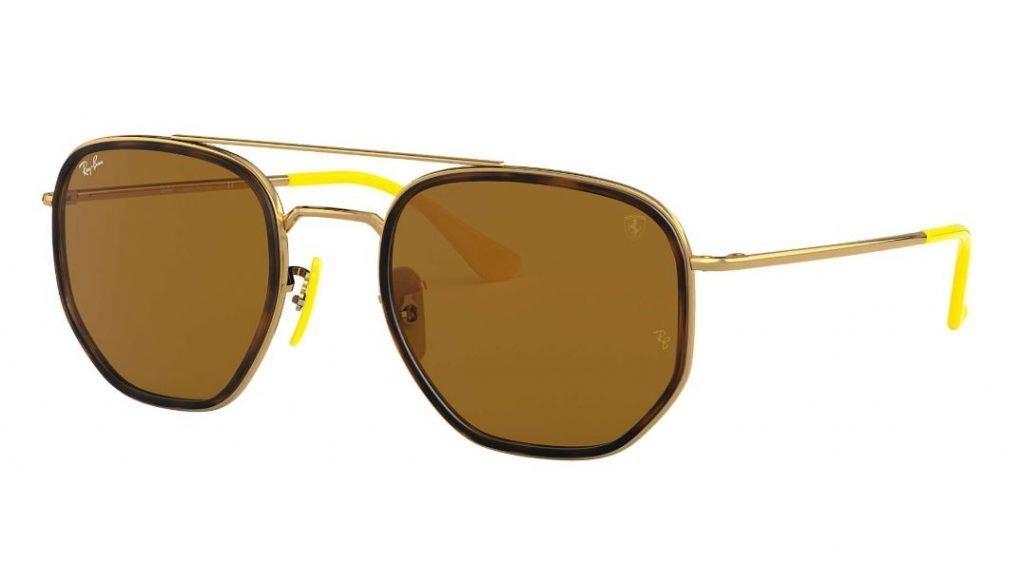 Ray ban occhiali da sole uomo Scuderia Ferrari mod RB3748M con montatura oro 1024x582 - Occhiali da Sole Uomo Ray ban Estate 2020
