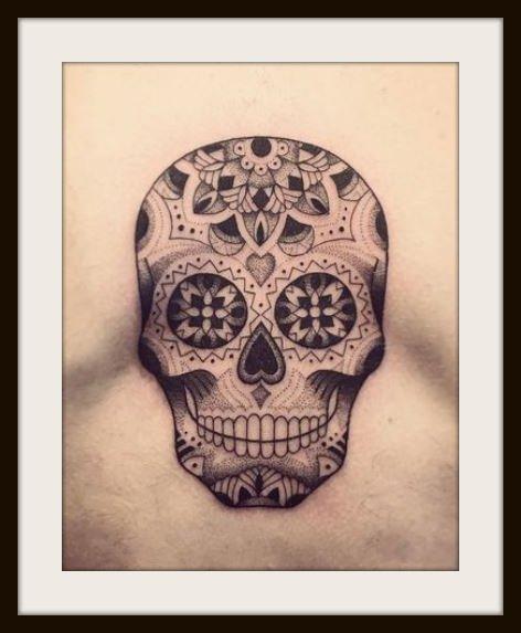 Tatuaggio Uomo Teschio Messicano Foto e Significato - Tatuaggio Uomo Teschio Messicano: Significato e Foto