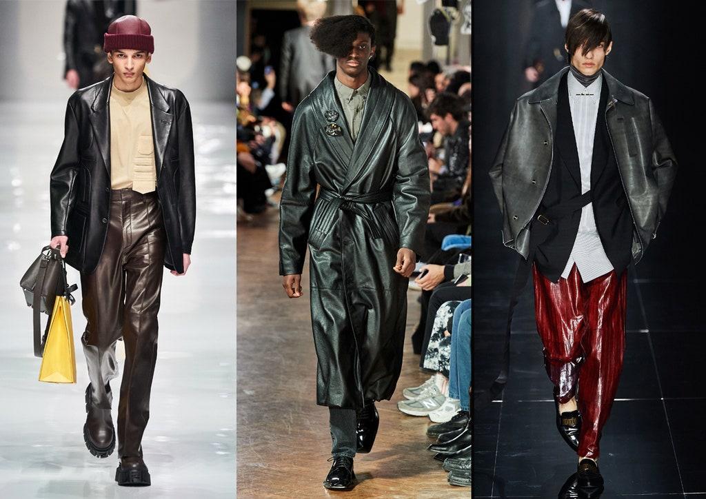 Abbigliamento in pelle uomo moda inverno 2020 2021 - Moda Uomo Inverno 2020 2021: Tendenze Abbigliamento
