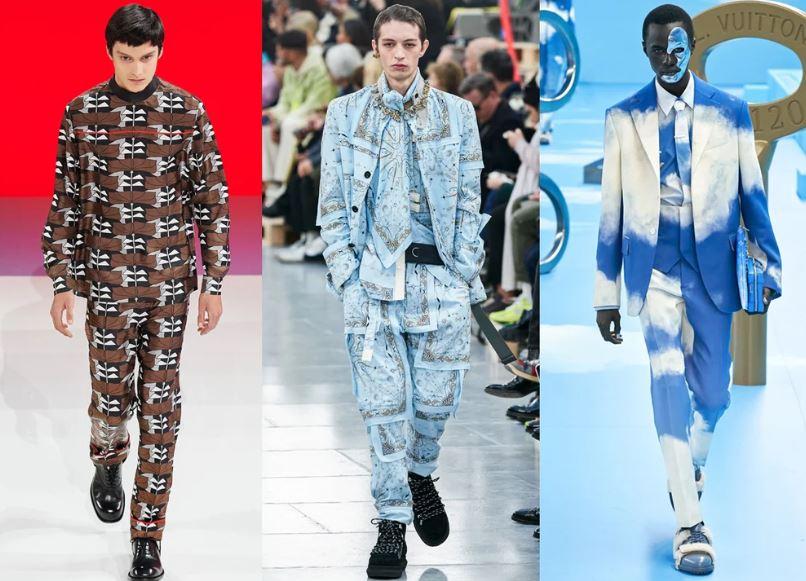 Abiti total print moda maschile inverno 2020 2021 - Moda Uomo Inverno 2020 2021: Tendenze Abbigliamento
