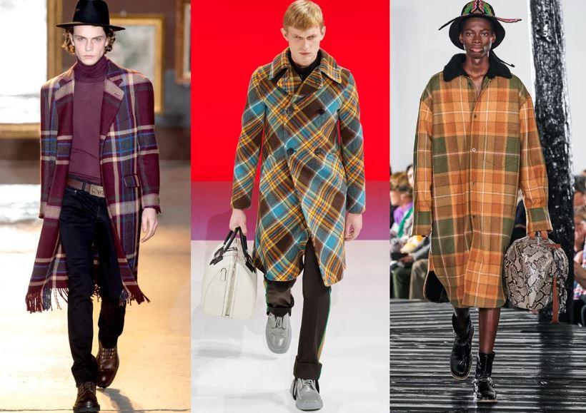 Cappotti a quadri scozzesi moda maschile inverno 2021 - Moda Uomo Inverno 2020 2021: Tendenze Abbigliamento