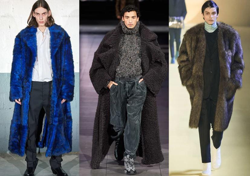 Cappotti in ecopelliccia moda uomo inverno 2020 2021 - Moda Uomo Inverno 2020 2021: Tendenze Abbigliamento