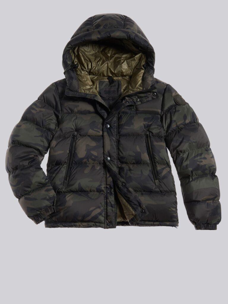 Giubbotto Blauer camouflage collezione inverno 2020 2021 modello Louis 768x1024 - Piumini Uomo BLAUER Inverno 2020 2021