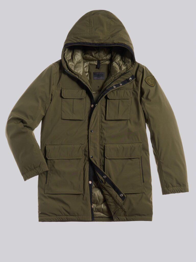 Giubbotto Blauer uomo catalogo invernale 2020 2021 modello Alan colore verde militare 768x1024 - Piumini Uomo BLAUER Inverno 2020 2021