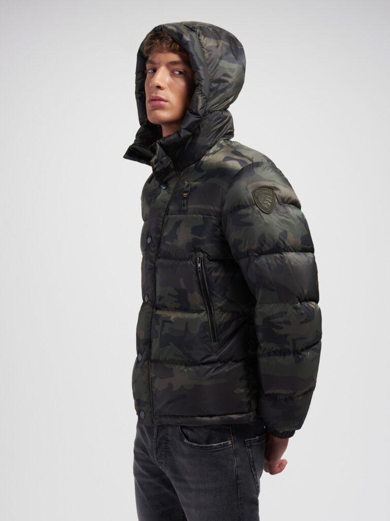 Piumino Blauer camouflage collezione inverno 2020 2021 modello Louis 768x1024 - Piumini Uomo BLAUER Inverno 2020 2021