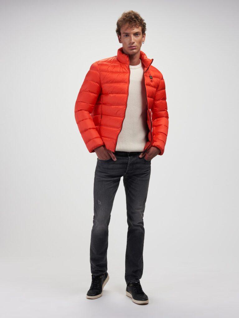 Piumino Blauer collezione uomo inverno 2020 2021 colore mandarino modello Basico Bruce 768x1024 - Piumini Uomo BLAUER Inverno 2020 2021