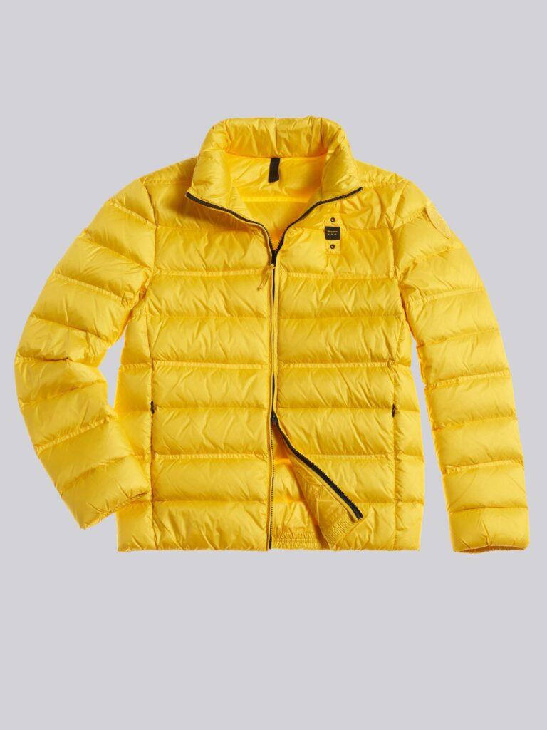 Piumino Blauer uomo collezione inverno 2021 colore giallo modello Basico Bruce 768x1024 - Piumini Uomo BLAUER Inverno 2020 2021