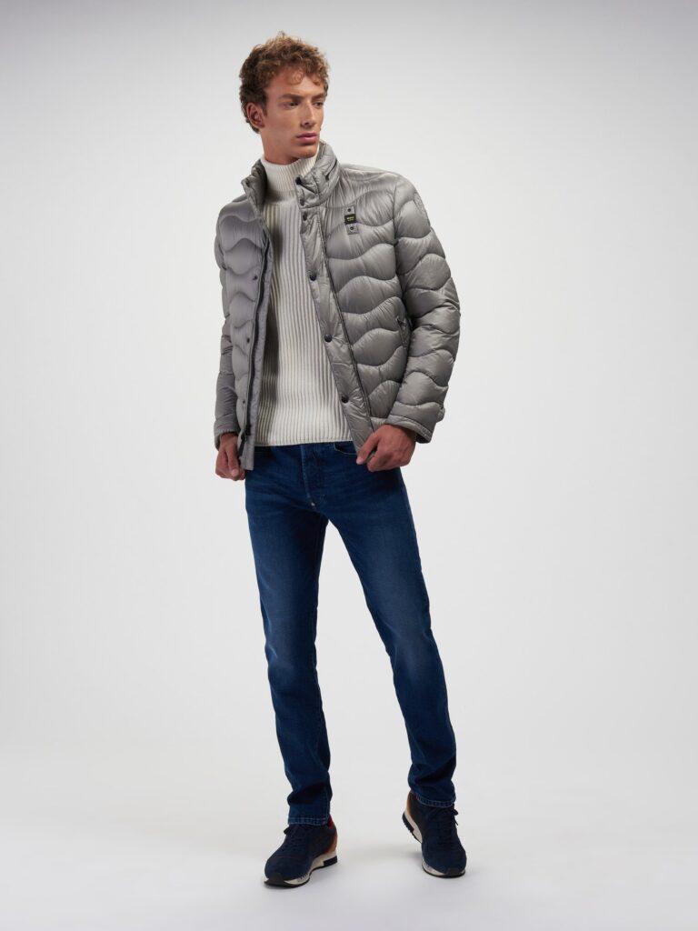 Piumino uomo Blauer modello Adam inverno 2020 2021 colore grigio 768x1024 - Piumini Uomo BLAUER Inverno 2020 2021