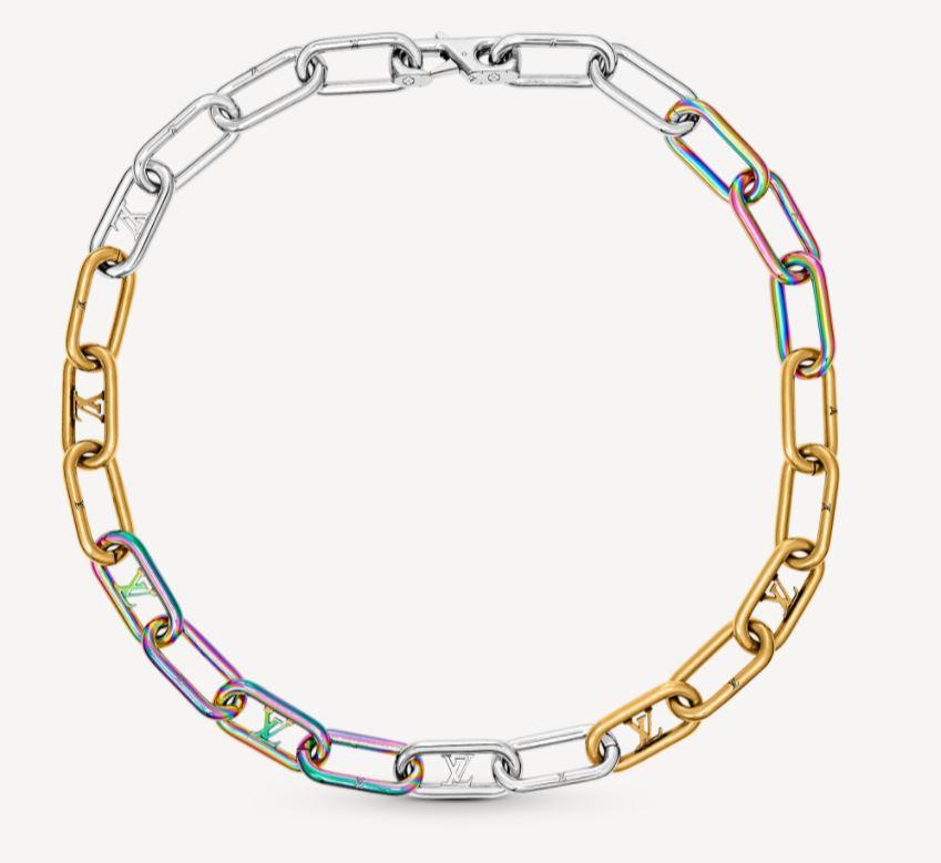 Collana Uomo Louis Vuitton collezione inverno 2021 modello Signature Chain - Accessori Uomo Louis Vuitton: Collane e Bracciali a Catena