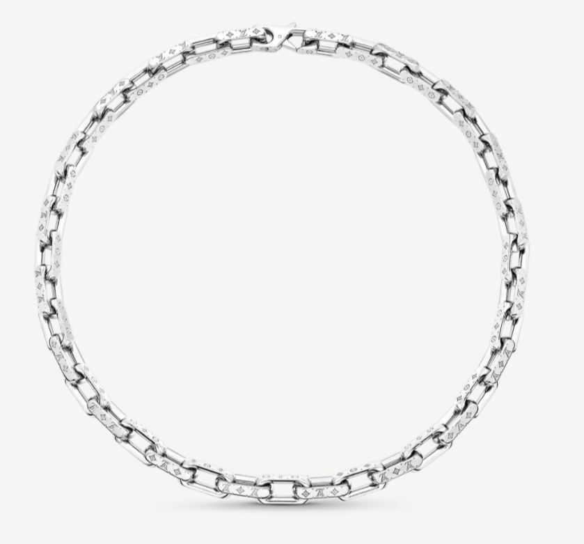 Collana da uomo Louis Vuitton a catenella Monogram collezione inverno 2020 2021 - Accessori Uomo Louis Vuitton: Collane e Bracciali a Catena