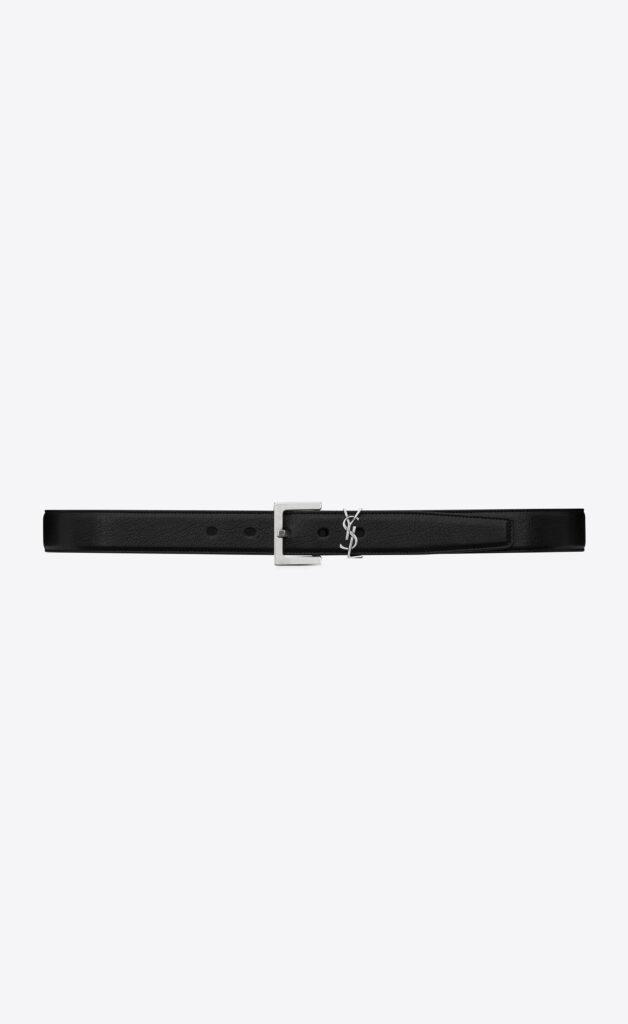 Cintura maschile YSL in pelle nera 628x1024 - 15 Cinture Uomo Firmate 2021