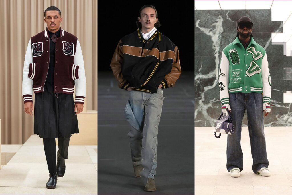 Bomber stile College americani 1024x682 - Tendenze Moda Abbigliamento Uomo Inverno 2021 2022