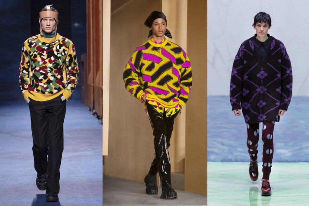 Maglioni in lana oversize da uomo 1024x682 - Tendenze Moda Abbigliamento Uomo Inverno 2021 2022