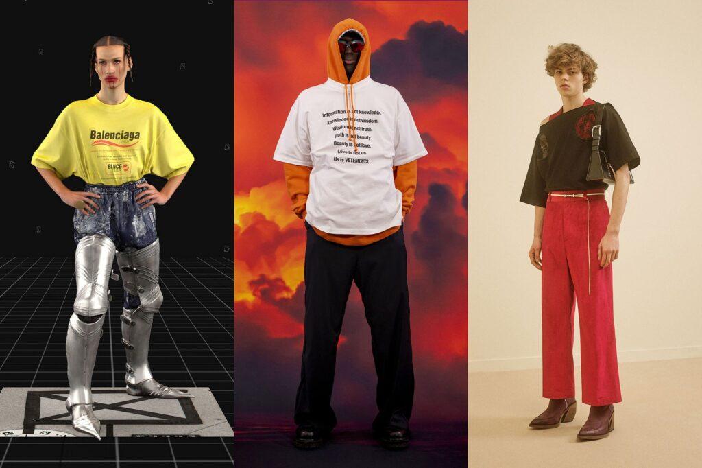 T Shirt con logo o frase moda uomo 1024x682 - Tendenze Moda Abbigliamento Uomo Inverno 2021 2022